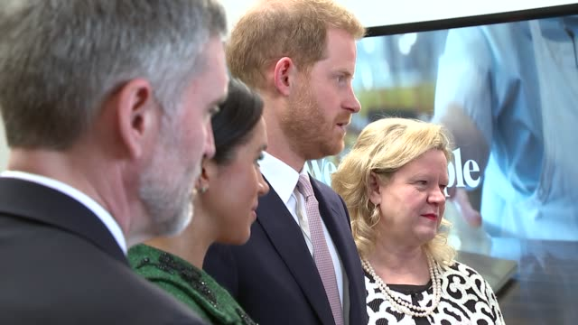duke and duchess of sussex visit canada house england london canada house photography** prince harry duke of sussex and meghan duchess of sussex... - canada house stock videos and b-roll footage
