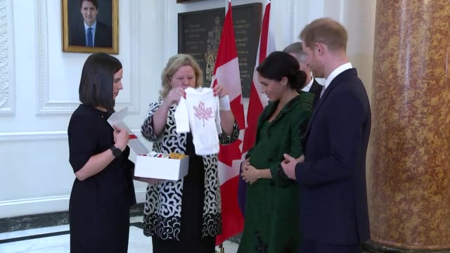 duke and duchess of sussex visit canada house england london canada house photography** prince harry duke of sussex and meghan duchess of sussex... - pregnant stock videos & royalty-free footage