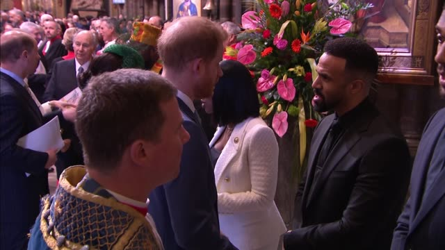 royal family and guests inside westminster abbey england london westminster westminster abbey various of prince harry duke of sussex and meghan... - anthony joshua boxer stock videos & royalty-free footage