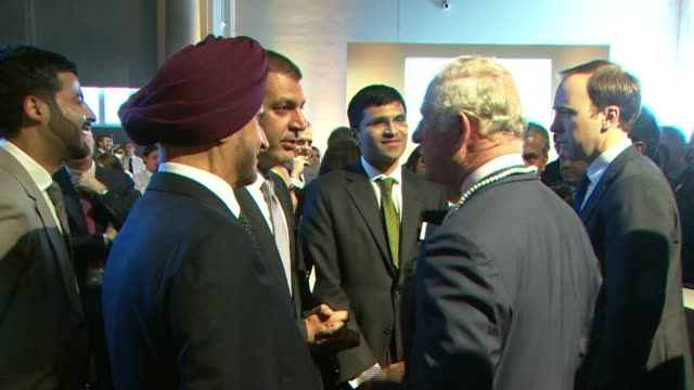 commonwealth heads of government meeting: prince charles meets indian pm modi; prince charles and modi with plaque / modi and prince charles, both... - saucer stock videos & royalty-free footage