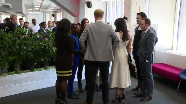 prince harry and meghan markle visit commonwealth youth forum reception england london photography*** prince harry and his fiancée meghan markle from... - british empire stock videos & royalty-free footage