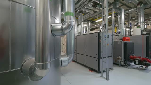 communal heating / power station - ステンレス点の映像素材/bロール