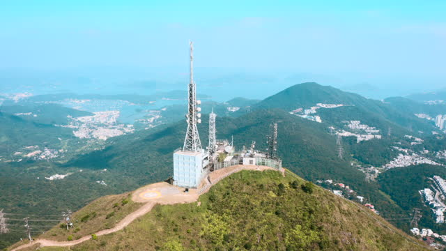 communication antenna in hong kong - telecommunications equipment stock videos & royalty-free footage