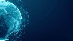 Communication technology global world network concept.