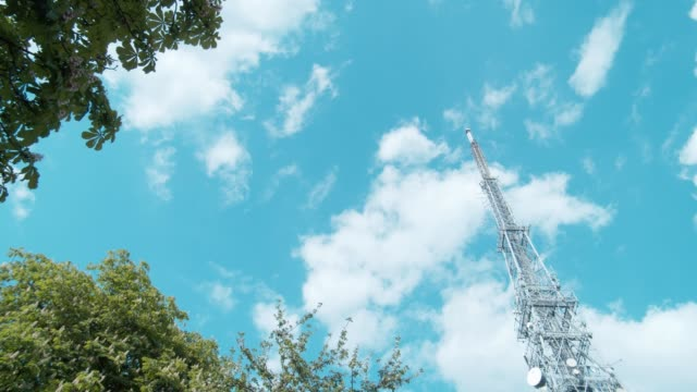 communication tower - tower stock videos & royalty-free footage