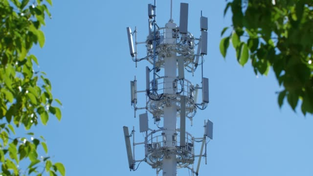 5g communication tower - 5g stock videos & royalty-free footage