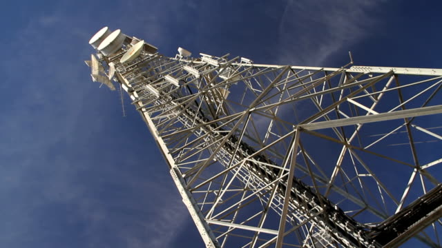 communication tower - television aerial stock videos and b-roll footage