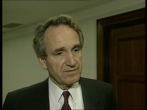 stockvideo's en b-roll-footage met communism reforms: usa reaction; int cms senator tom harkin intvwd sof - in our interests that we assist the ussr in different ways - congreslid