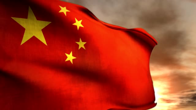 a communist china flag waves in the wind. - communist flag stock videos & royalty-free footage