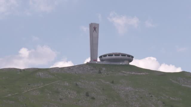 communist conference hall, bulgaria - monument stock videos & royalty-free footage