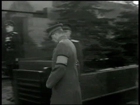 ussr communist dictator josef stalin premier of soviet union dressed in coat w/ arm band walking w/ others josef stalin walking toward lenin tomb vs... - arm band stock videos & royalty-free footage