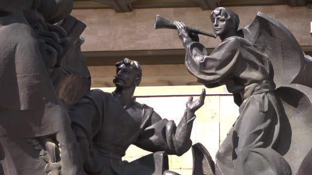 m/s communist era statue - kharkov stock videos & royalty-free footage
