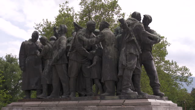 communist monuments, sofia, bulgaria - ussr stock videos and b-roll footage