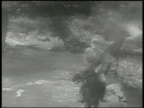 communist party of greece leader markos vafiadis riding horse on road cu vafiadis talking ms vafiadis dismounting horse greek civil war - 1906 stock videos and b-roll footage