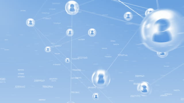 community network with numbers
