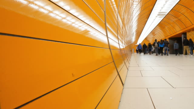 commuter at munich subway - tile stock videos & royalty-free footage