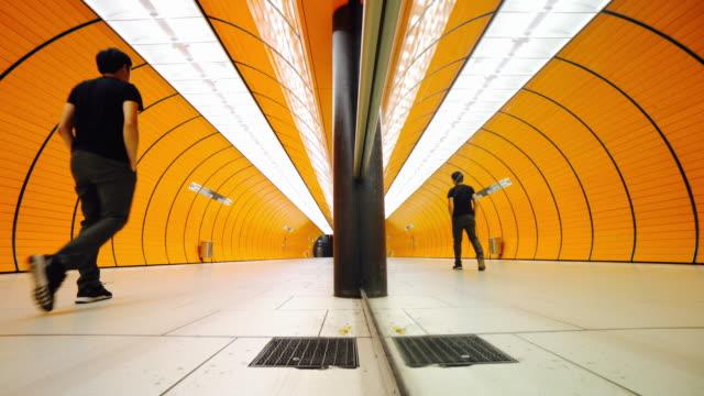 Commuter at Subway platform in Munich