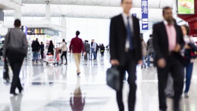 commuter traffic - hong kong international airport stock videos and b-roll footage