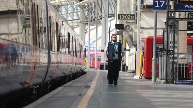 commuters at waterloo station in london, uk on thursday, may 21, 2020. - underground station stock videos & royalty-free footage