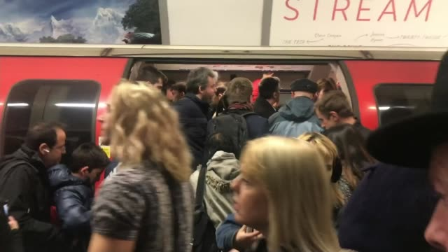 commuters call for safety barriers on london underground after man falls under tube train; england: london: int amye dolby interview sot cutaways... - busy stock videos & royalty-free footage
