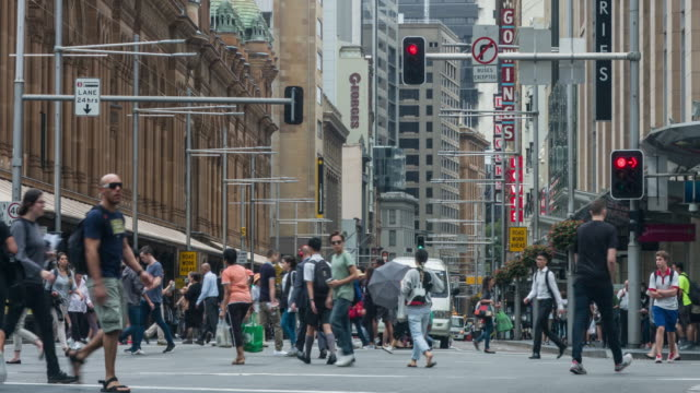 Commuters in George St, Sydney