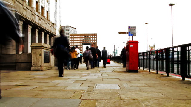 Commuters Time lapse. London Bridge