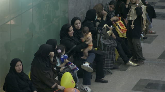 ms ha commuters waiting in subway station, tehran, iran - iran stock videos and b-roll footage