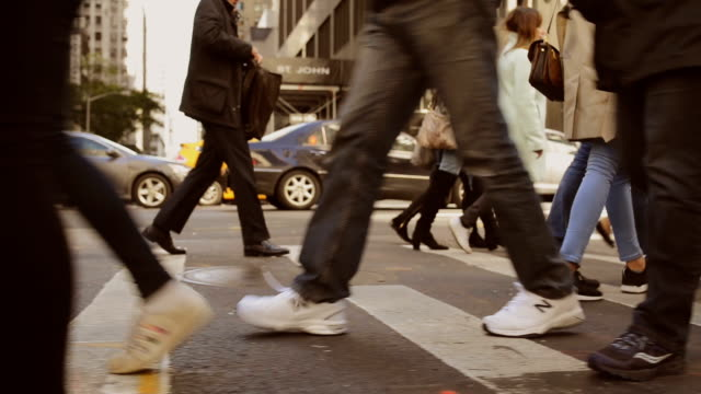 commuting - pedestrian crossing stock videos & royalty-free footage