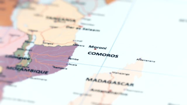 africa comoros on world map - suez canal stock videos & royalty-free footage