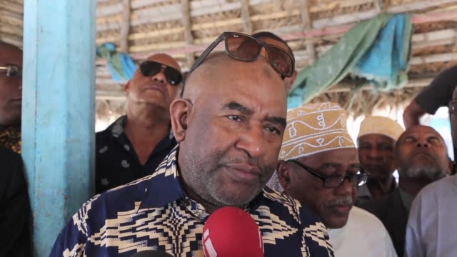 Comoros President Azali Assoumani visits areas of Anjouan island that security forces recaptured from rebels after clashes last week in which at...