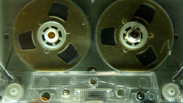 compact cassette with reel or spools - audio equipment stock videos & royalty-free footage