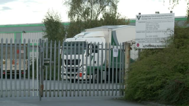 Company faces action over build up of clinical waste ENGLAND Yorkshire Normanton EXT Various of site of medical waste disposal company Healthcare...