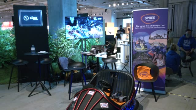 company producing the world first vr bumper car presents itself at the shift mobility convention at the ifa 2020 special edition consumer electronics... - bumper car stock videos & royalty-free footage