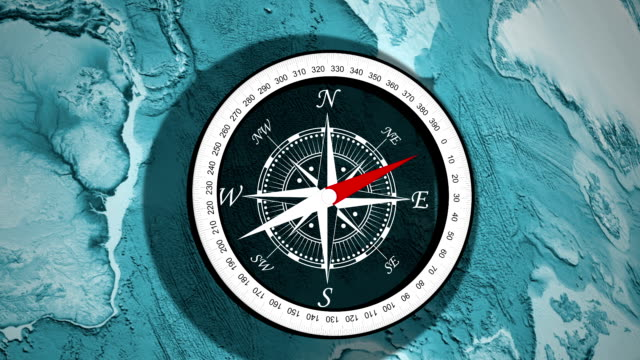 Compass, a device used to determine geographic direction