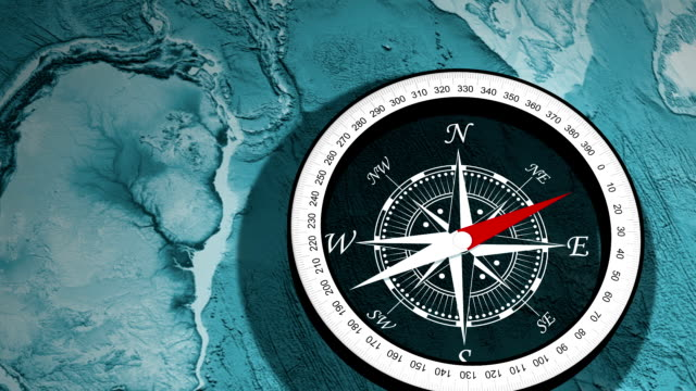 compass, a device used to determine geographic direction - magnet stock videos & royalty-free footage