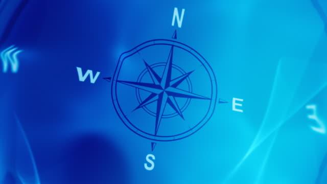 compass. loop - kompass stock-videos und b-roll-filmmaterial