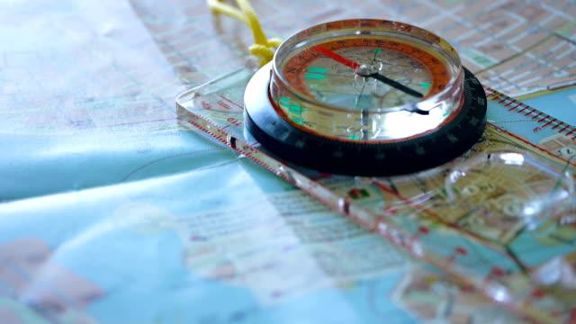 Kompas op kaart