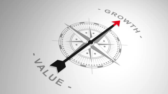 compass pointing out the word 'growth'