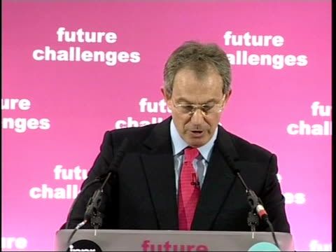 blair speech tony blair mp speech sot a natural but wrong response is to retreat in the face of this change to regulate to eliminate risk to restrict... - human back stock videos & royalty-free footage