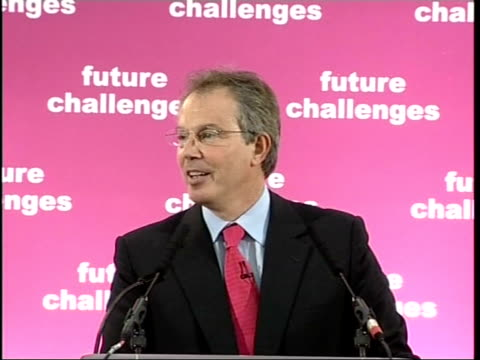 blair speech tony blair mp speech sot reacts to liverpool's win in the european champions league final blair to podium and speech sot reacts to... - health and safety点の映像素材/bロール