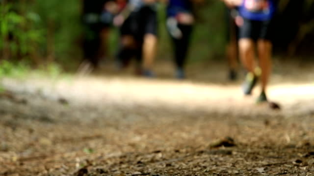 Competition of trail running