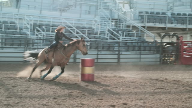 competition rodeo barrel racing - rodeo stock videos & royalty-free footage
