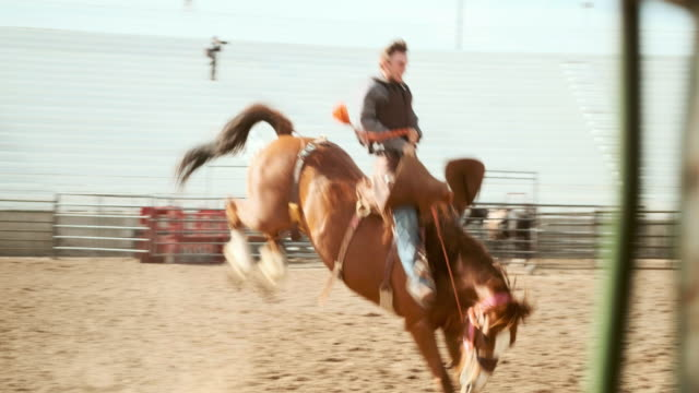 competition rodeo saddle bronc - rodeo stock videos & royalty-free footage