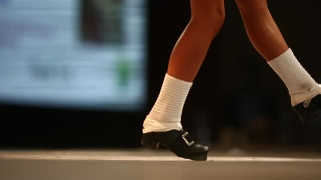 competitors perform at the world irish dance championship on april 13 2014 in london england the 44th world irish dance championship is currently... - championships stock videos and b-roll footage
