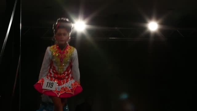 competitors perform at the world irish dance championship on april 13 2014 in london england the 44th world irish dance championship is currently... - spotlight stock videos & royalty-free footage