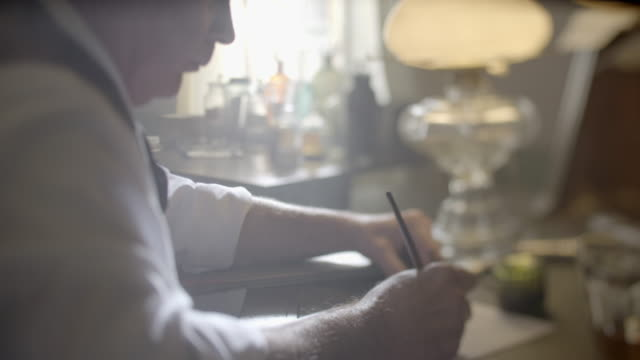 compilation of a man writing a letter with a dip pen - 1918 stock videos & royalty-free footage