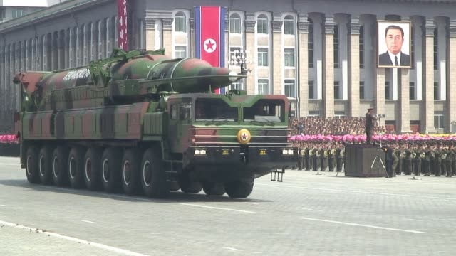 compilation of images of a large military parade held in pyongyang on april 15 to mark 100 years since the birth kim il-sung, including motorized... - parade stock videos & royalty-free footage