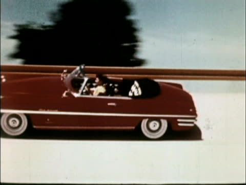 / compilation of various passenger cars on banked or curved tracks / sequence of 1949 chevrolet approaching and driving on banked track / twoshot... - chevrolet stock videos & royalty-free footage