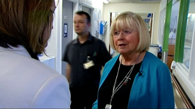 ann clwyd begins tour of hospitals england cambridge addenbrooke's hospital int various of ann clwyd mp touring hospital ward ann clwyd chatting with... - patient journey stock videos & royalty-free footage