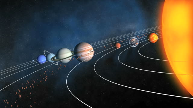 complete solar system (full hd) - orbiting stock videos & royalty-free footage